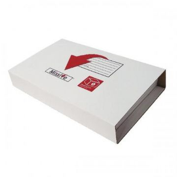 Book Wrap Mailing Boxes - White<br>Size: 248x165x70mm<br>Pack of 20